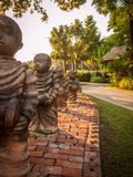 Stone monks, Thailand Royalty Free Stock Images