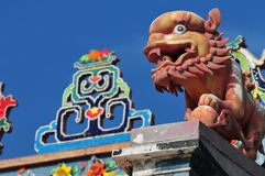 Stone Monster. Chinese Stone Monster sculpture in Temple Stock Images