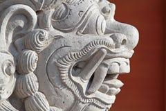 Stone monster teeth. Stone head in Ubud palace, Bali Royalty Free Stock Image