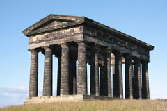 Stone Monument. Penshaw Monument in Sunderland, Tyne & Wear, Northeast England.  A folly on a hill by the banks of the River Wear. Designed by John and Benjamin Royalty Free Stock Photography