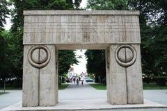 Stone monument Stock Photo
