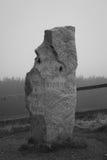 Stone Monument on Mountain Pass Royalty Free Stock Photos