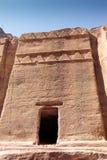 Petra Jordan. Stone monument in Petra Jordan Royalty Free Stock Photo