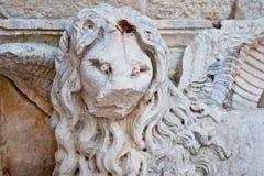 Stone monument Trogir, Croatia Stock Photos