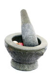 Stone mortar and pestle Stock Image