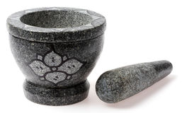 Stone mortar and pestle Royalty Free Stock Photos