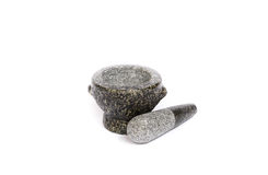 Stone mortar and pestle Stock Photos