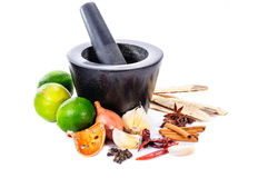 Stone mortar and pestle Royalty Free Stock Images