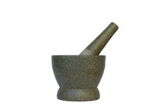 A stone mortar & pestle Stock Photos