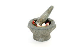 Stone mortar royalty free stock images