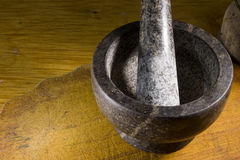 Stone mortar with pestle Royalty Free Stock Image