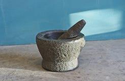 Stone mortar Stock Image