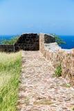 Stone and Mortar Walkway Overlooking Sea Stock Photography