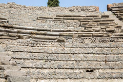 Stone and Mortar Wall in Pompeii. An ancient stone wall using mortar in the lost city of Pompeii royalty free stock photography