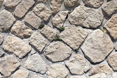 Stone and Mortar Wall Texture Royalty Free Stock Photo