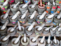 Stone mortars Royalty Free Stock Images