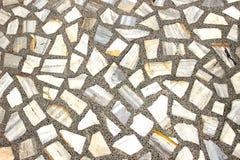 Stone Mosaic Floor Pattern Stock Photo
