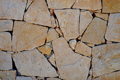 A Stone Mosaic Wall For Background Stock Image