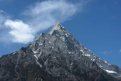 Stone mountain with blue sky Stock Photo