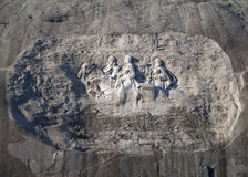 Stone Mountain Carving At Dawn Stock Photo