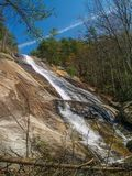 Stone Mountain Falls in Roaring Gap, North Carolina Royalty Free Stock Photography
