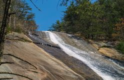 Stone Mountain Falls in Roaring Gap, North Carolina Stock Image