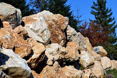 Stone mountain. Mountain gray stored waiting to be used in construction stock photo