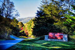 Stone mountain north carolina scenery during autumn season Stock Photography