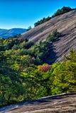 Stone mountain north carolina scenery during autumn season Royalty Free Stock Photos