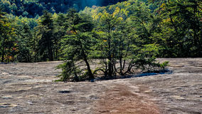 Stone mountain north carolina scenery during autumn season Stock Photo