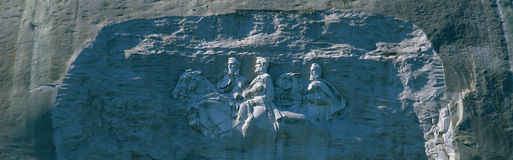 Stone Mountain Park Civil War Memorial Stock Photo