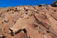 Stone mountain rocks texture in La Palma Royalty Free Stock Photo