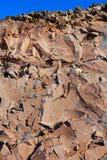 Stone mountain rocks texture in La Palma Royalty Free Stock Image