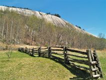 Stone Mountain State Park Split Rail Fence Stock Images
