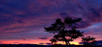 Stone Mountain State Park Sunset Royalty Free Stock Images