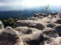 Stone mountain in Thailand. Rock mountain at Phu Hin Rong Kla, Thailand Royalty Free Stock Photography