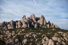 Stone mountain. The top of the mountain rock royalty free stock photos