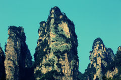 Stone mountain at zhangjiajie Stock Photography