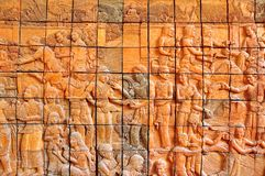 Stone mural. Stock Photos