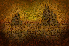 Stone mural. Background with mountains Royalty Free Stock Image