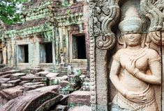 Stone murals and sculptures in Angkor wat Stock Images