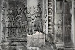 Stone murals and sculptures in Angkor wat, Cambodia Stock Photography