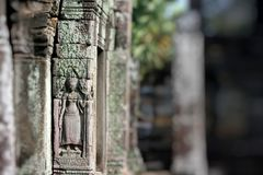 Stone murals and sculptures in Angkor wat, Cambodia Royalty Free Stock Image