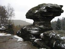 Stone mushroom in Tisa Rocks Royalty Free Stock Images