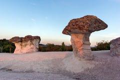 The Stone Mushrooms viewed from above near Beli plast village, Bulgaria Stock Photo