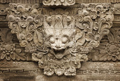 Stone mythical creature - decoration of Bali templ Stock Photos