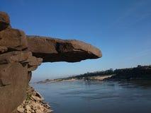 Stone. Nature overhanging-rock UbonRatchathani Thailand stock photography