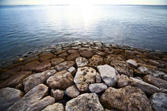 Stone near the water Royalty Free Stock Photography