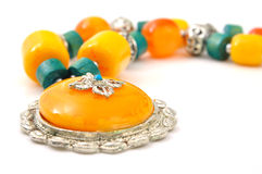 Stone necklace Royalty Free Stock Photography