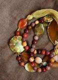Stone necklace Royalty Free Stock Photos